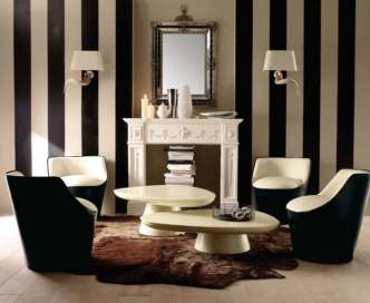 modern-living-room-wall-decorating-with-cream-and-black-stripes