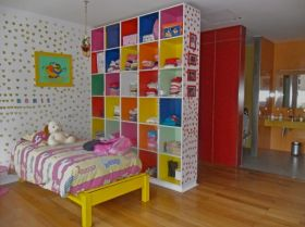 children bedroom and bathroom